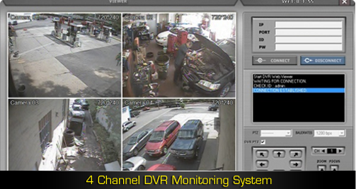 4 Channel DVR Monitoring System